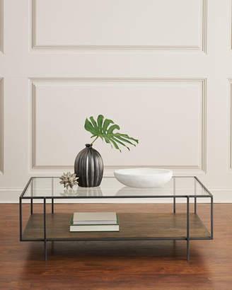 Troye Metal & Glass Coffee Table