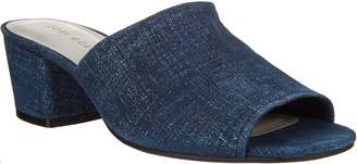 Logo By Lori Goldstein Lori Goldstein Collection Slip-On Peep Toe Sandals w/ Block Heel