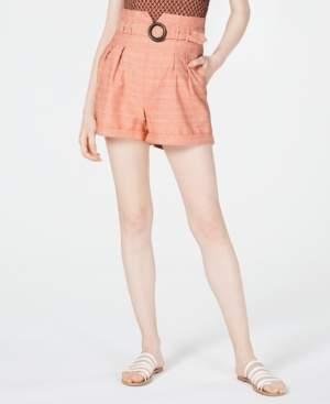 Line & Dot O-Ring Paperbag Shorts