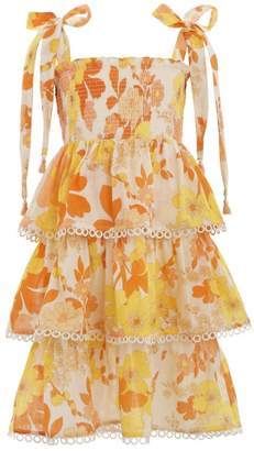 Zimmermann Primrose Shirred Tiered Dress