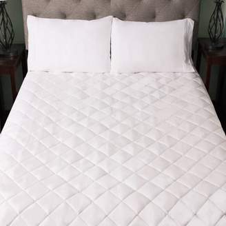 Snuggle Home Quilted Fitted Memory Foam Bedroom Mattress Pad, 4 Sizes