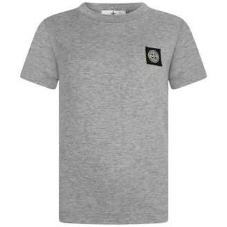 Stone Island Stone IslandBoys Grey Cotton Logo Top