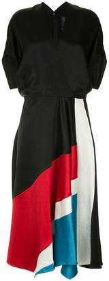 Zero Maria Cornejo colour block dress