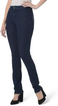 NYDJ Sheri Floral Bling Stretch Slim Jeans