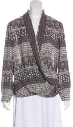 L'Agence Printed Wrap Top