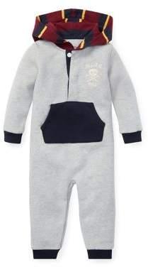 Ralph Lauren Childrenswear Baby Boy's Hooded Fleece Pouch Coverall