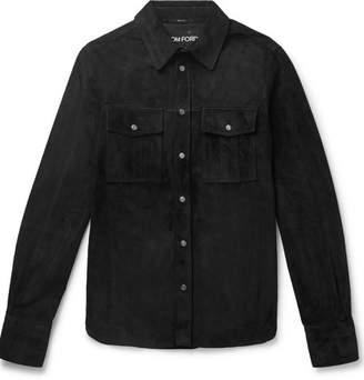 Tom Ford Slim-fit Suede Shirt Jacket - Black