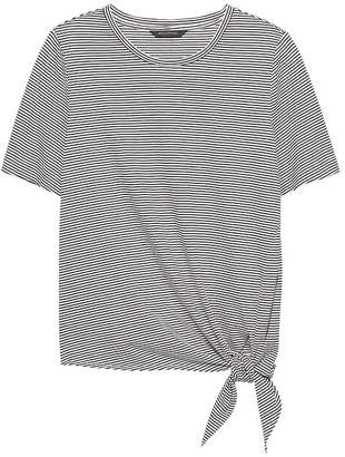 Banana Republic SUPIMA® Cotton Tie-Front T-Shirt