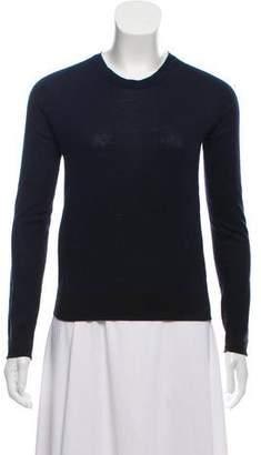 Calvin Klein Collection Contrast Wool-Blend Long Sleeve
