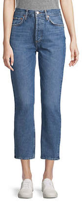 A Gold E AGOLDE Riley Crop High-Rise Straight Jeans