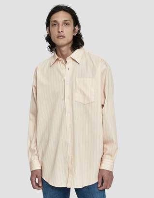 Acne Studios Striped Twill Button Up Shirt