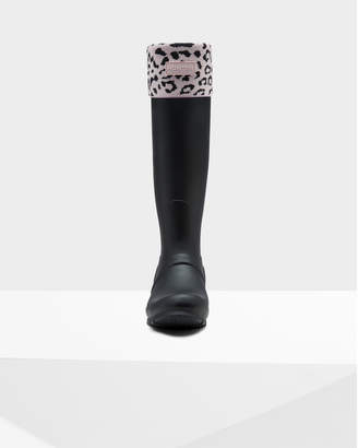 Hunter Women's Original Snow Leopard Cuff Boot Socks