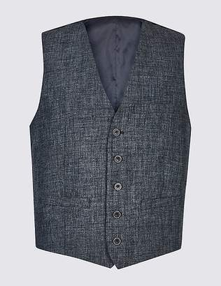 Marks and Spencer Linen Miracle Tailored Fit Waistcoat