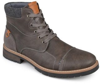 Territory Mens Lace-up Faux Leather Boots
