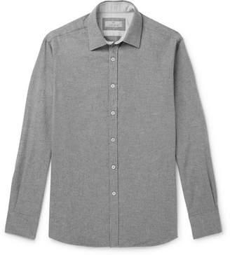 Canali Brushed-Cotton Shirt - Gray