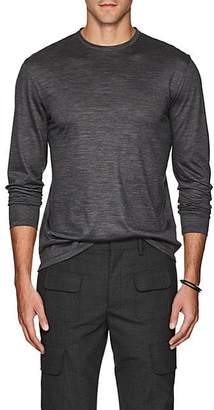 Barneys New York Men's Wool Long-Sleeve T-Shirt - Charcoal