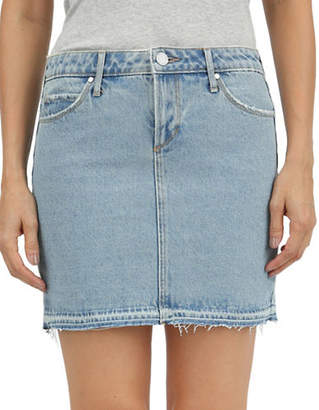 Articles of Society Distressed Denim Mini Skirt