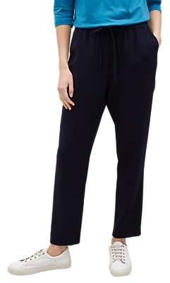 Jaeger Elasticated Waist Trousers, Navy