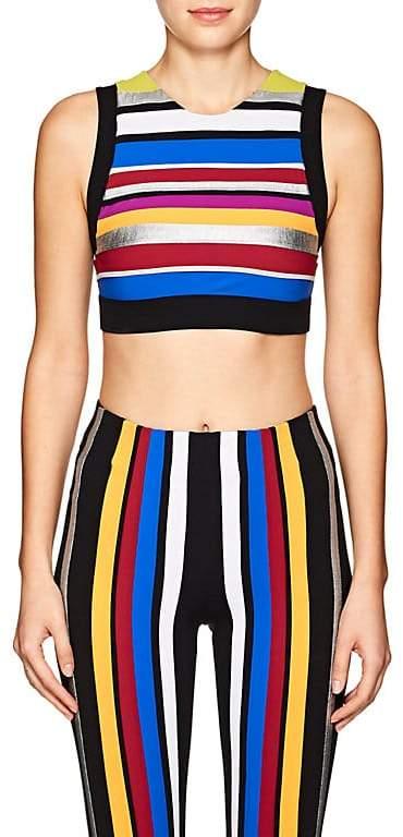 No Ka'Oi Women's Lele Striped Microfiber Sports Bra