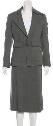 Dries Van Noten Long Sleeve Midi Skirt Set