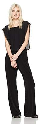 Amy Byer A. Byer Junior's Dolman Sleeve Jumpsuit with Gold Trim (Junior's)