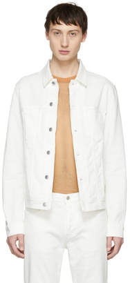 Acne Studios White Bla Konst Denim Pass Jacket