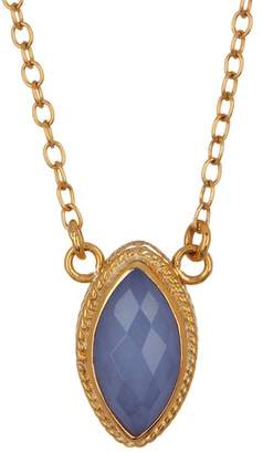 Anna Beck 18K Gold Plated Sterling Silver Blue Chalcedony Marquis Necklace