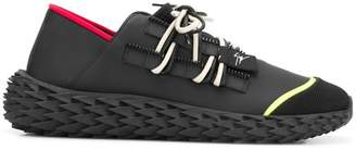 Giuseppe Zanotti ridged lace-up sneakers