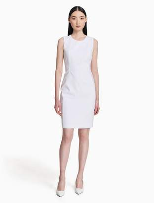 Calvin Klein cotton stretch sheath dress