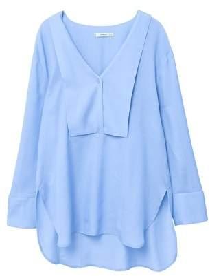 MANGO Flowy panel blouse
