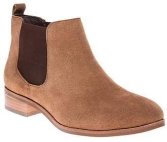 Sole New Womens Tan Bertha Suede Boots Ankle Elasticated