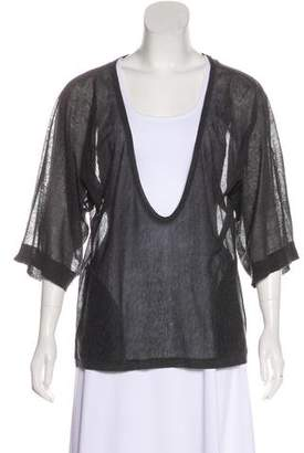 Magaschoni Semi-Sheer Knit Top