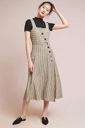Eva Franco Striped Utility Midi Dress