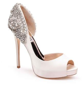 Badgley Mischka Vicki Crystal Embellished Peep Toe Pump