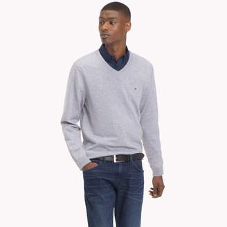 Tommy Hilfiger Cotton Silk V-Neck Sweater