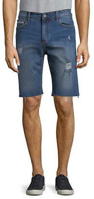 Calvin Klein Jeans Ripped Raw Hem Denim Shorts