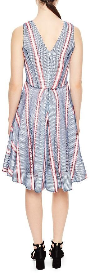 Sandro Chear Striped Mesh Dress 2