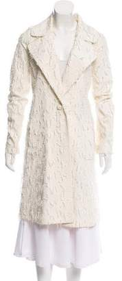 Co Textured Knee-Length Coat