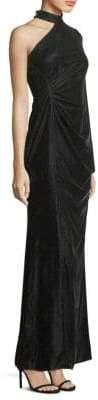 Shoshanna Velvet One-Shoulder Gown
