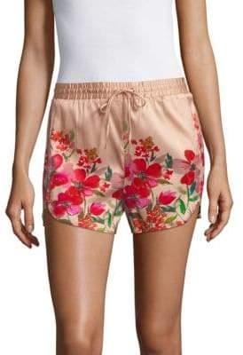 Stretch Silk Floral Shorts