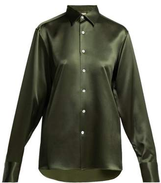 Connolly - Silk Satin Shirt - Womens - Dark Green