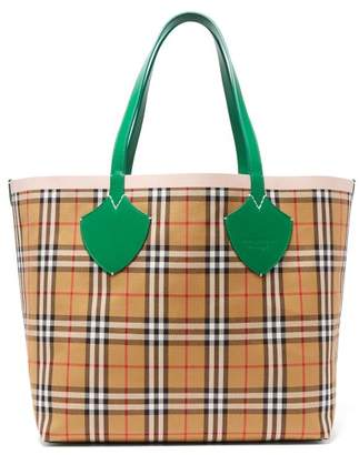 Burberry - The Giant Medium Reversible Cotton Tote Bag - Womens - Brown Multi