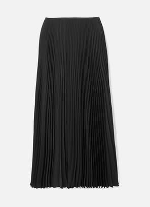 Joseph Abbot Pleated Crepe De Chine Midi Skirt - Black