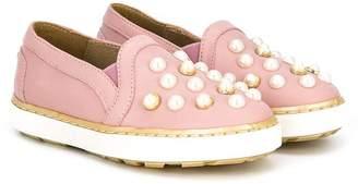 Stuart Weitzman faux pearl sneakers
