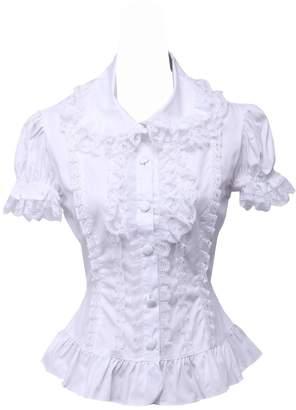 ad8e11109a7f56 an tai na  Antaina Cotton Lace Ruffle Puff Vintage Victorian Lolita Shirt  Blouse