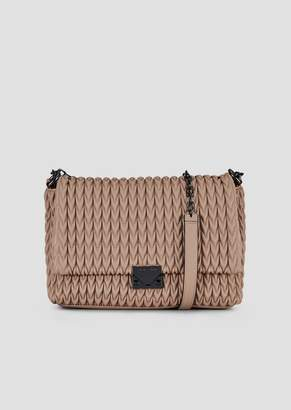 d5bcc519990 Emporio Armani Shoulder Bag With Quilted Design And Triangular Closure
