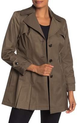 Via Spiga Waist Tie Hooded Trench Coat (Petite)