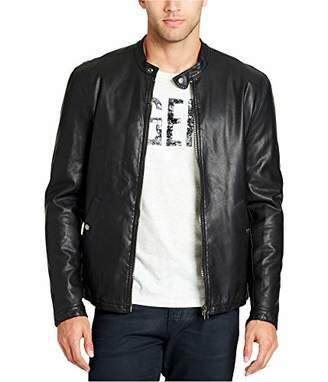 William Rast Men's Solomon Pu Leather Moto Jacket