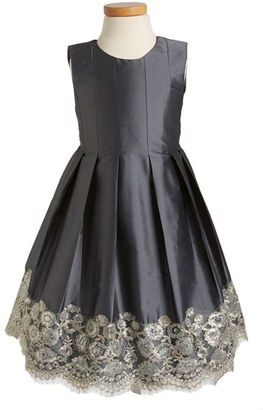 Toddler Girl's Isabel Garreton Floral Lace Pleated Dress $209 thestylecure.com
