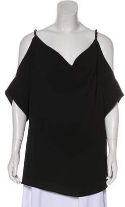 MICHAEL Michael Kors Cold-Shoulder Short Sleeve Blouse w/ Tags